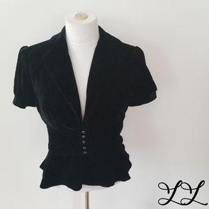 NWT Ann Taylor Loft Jacket Black Velvet Formal